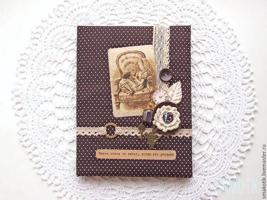 """Обложки ручной работы. Ярмарка Мастеров - ручная работа. Купить Обложка на школьный дневник """"Alice"""". Handmade. Коричневый, обложка для дневника"""
