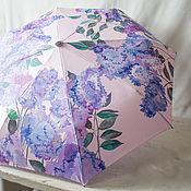 Аксессуары handmade. Livemaster - original item Folding umbrella with hand painted