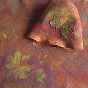 """Аксессуары ручной работы. Ярмарка Мастеров - ручная работа """"Осень - рыжая подруга..."""" для бани комплект. Handmade."""