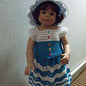 Работы для детей, handmade. Livemaster - original item suit for girls Sea. Handmade.