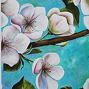Картины и панно ручной работы. Ярмарка Мастеров - ручная работа Картина маслом  Цветение весны. Handmade.