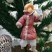 Куклы и игрушки ручной работы. Ярмарка Мастеров - ручная работа Ватная ёлочная игрушка. Письмо пришло!. Handmade.