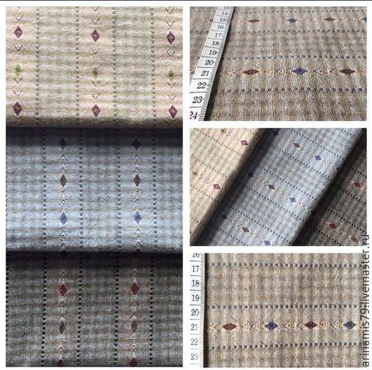 Шитье ручной работы. Ярмарка Мастеров - ручная работа. Купить Японский фактурный хлопок 3 вида тканей. Handmade. Кремовый