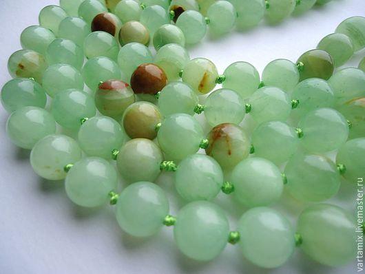 Для украшений ручной работы. Ярмарка Мастеров - ручная работа. Купить Оникс зеленый бусина гладкий шар 10мм. Handmade.