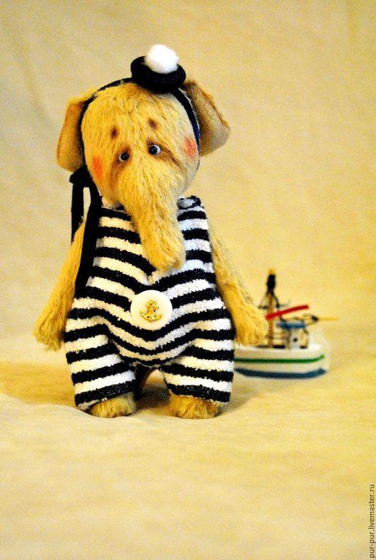 Мишки Тедди ручной работы. Ярмарка Мастеров - ручная работа. Купить Сэмуэль (Отважный капитан)  для Эвелины. Handmade. Желтый, слоны