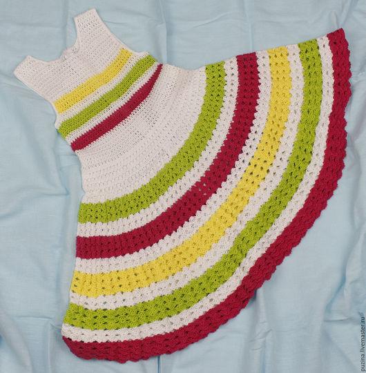 Одежда для девочек, ручной работы. Ярмарка Мастеров - ручная работа. Купить Платье Яркое лето! скидка 40%. Handmade.