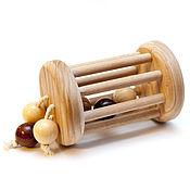 """Куклы и игрушки ручной работы. Ярмарка Мастеров - ручная работа Каталочка """"Барабанчик с шариками"""" каталка. Handmade."""