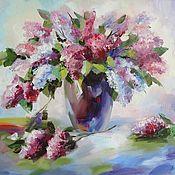 Картины и панно handmade. Livemaster - original item Oil painting Tender lilac, 50/60 cm. Handmade.