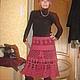 Юбка по мотивам юбки Патриция Пепе,связана на заказ, размер 40,пряжа смесь шерсти,кашемира и ангоры ,350г.Работа для примера,фото любезно предоставлено заказчицей.