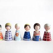 Куклы и игрушки ручной работы. Ярмарка Мастеров - ручная работа деревянные человечки. Handmade.