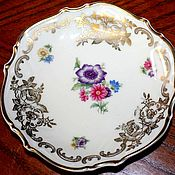 Винтаж handmade. Livemaster - original item Beautiful, vintage plate, Hutschenreuihe, Germany. Handmade.