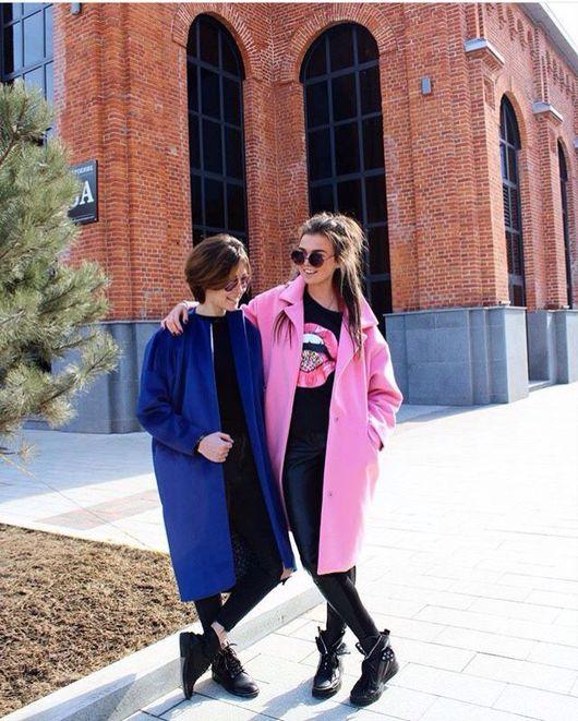 Верхняя одежда ручной работы. Ярмарка Мастеров - ручная работа. Купить Розовое пальто Oversize. Handmade. Пальто, Весеннее пальто