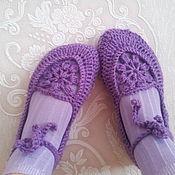 """Обувь ручной работы. Ярмарка Мастеров - ручная работа Балетки """"Лиловый восторг"""". Handmade."""