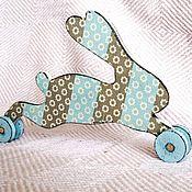 """Куклы и игрушки ручной работы. Ярмарка Мастеров - ручная работа Игрушка """" Зайка"""" детская, интерьерная (дерево, декупаж). Handmade."""