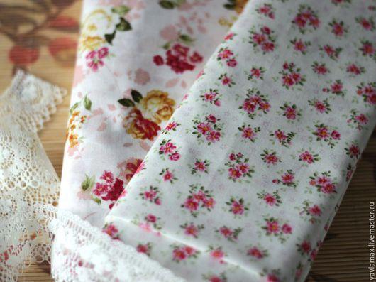 Шитье ручной работы. Ярмарка Мастеров - ручная работа. Купить Набор тканей Розы-2. Handmade. Ткань для рукоделия, ткань