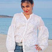 Одежда handmade. Livemaster - original item Embroidered white shirt. Boho blouse. Embroidery. Handmade.