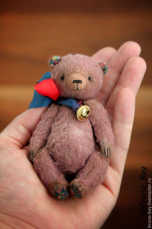 Мишки Тедди ручной работы. Ярмарка Мастеров - ручная работа. Купить Свекольно-малиновый потеряшка.. Handmade. Бордовый, тедди мишка