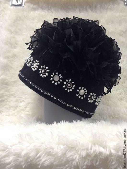 """Шляпы ручной работы. Ярмарка Мастеров - ручная работа. Купить Шапочка """"Черный лебедь"""". Handmade. Головной убор для женщин"""