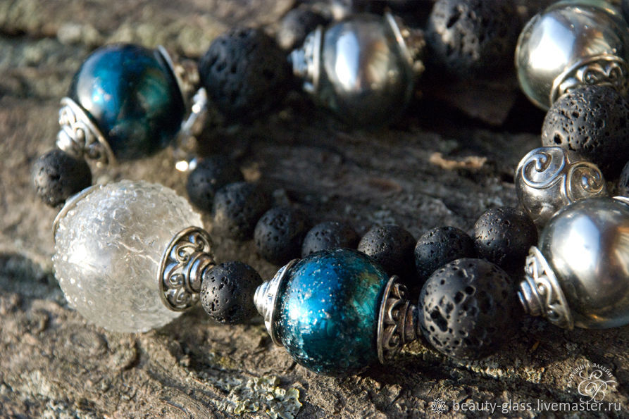 'Space worlds ' lampwork beads, Beads2, St. Petersburg,  Фото №1