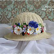 Аксессуары ручной работы. Ярмарка Мастеров - ручная работа Летняя шляпка. Handmade.
