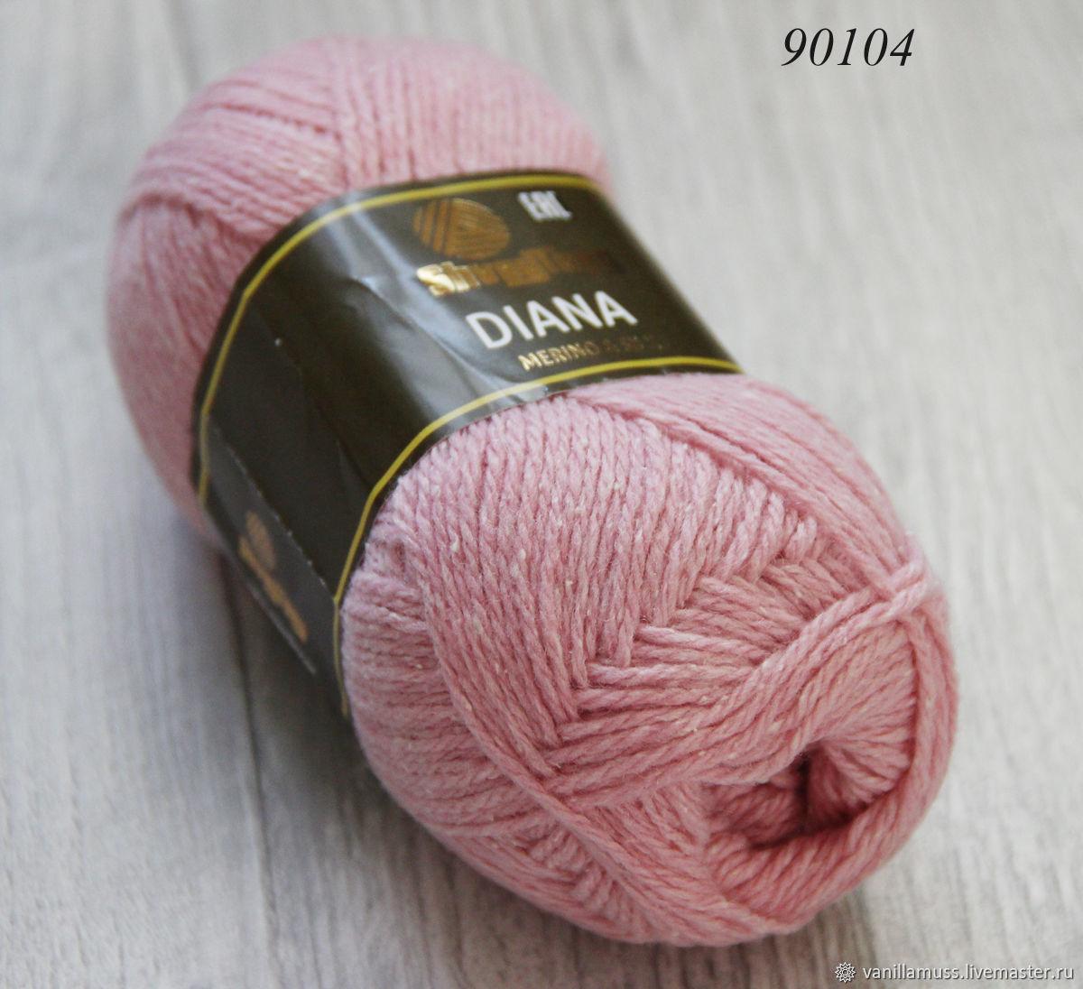 Вязание ручной работы. Ярмарка Мастеров - ручная работа. Купить Диана - шерсть с шелком. Handmade. Пряжа для вязания, пряжа для крючка
