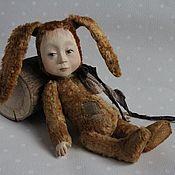 Куклы и игрушки ручной работы. Ярмарка Мастеров - ручная работа Тедди-долл Мальчик-зайчик. Handmade.