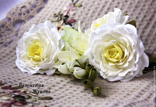 """Букеты ручной работы. Ярмарка Мастеров - ручная работа. Купить Букет цветов из фоамирана """"Нежность"""". Handmade. Белый, букет"""