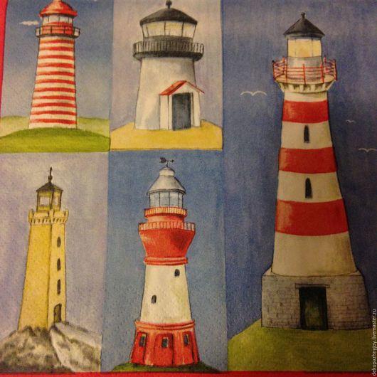 Маяки...маяки...маяки (5 видов) -салфетка для декупажа Декупажная радость