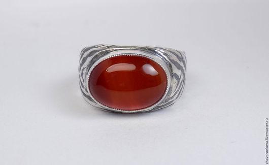 Кольца ручной работы. Ярмарка Мастеров - ручная работа. Купить Кольцо с сердоликом.. Handmade. Рыжий, кольцо с сердоликом, черненое серебро