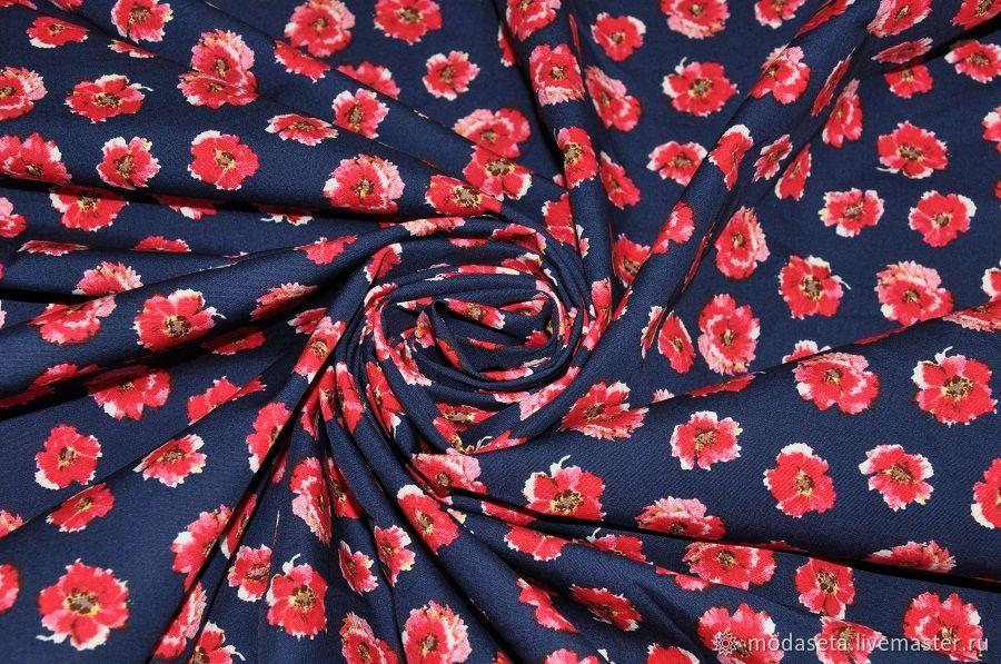 Хлопковая ткань рубашечная, Италия, Ткани, Москва,  Фото №1