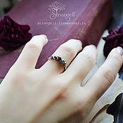 Украшения handmade. Livemaster - original item Silver ring with grant and hematite Adjustable ring silver. Handmade.