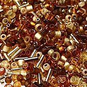 Материалы для творчества handmade. Livemaster - original item 10g Toho MIX 3219 amber Japanese beads TOHO Kohaku Amber mix. Handmade.