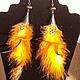 Order Earrings clip-on earrings with feathers !Not boring!. IrsAn Gruzdeva (irsangruzdeva). Livemaster. . Clip on earrings Фото №3