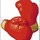 Боксерские перчатки красные-Гамма (основной цвет № 0012).