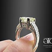 Украшения handmade. Livemaster - original item Gold ring with moissanite and Radiant CZ. 585. Handmade.