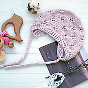 Работы для детей, handmade. Livemaster - original item Knitting cap, knitted cap for girls