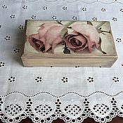 """Для дома и интерьера ручной работы. Ярмарка Мастеров - ручная работа Купюрница  """"Твои розы"""". Handmade."""