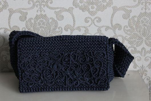 Женские сумки ручной работы. Ярмарка Мастеров - ручная работа. Купить Сумка Индиго + колье. Handmade. Тёмно-синий