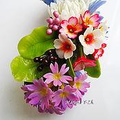 Цветы и флористика handmade. Livemaster - original item Summer barrette from polymer clay. Handmade.