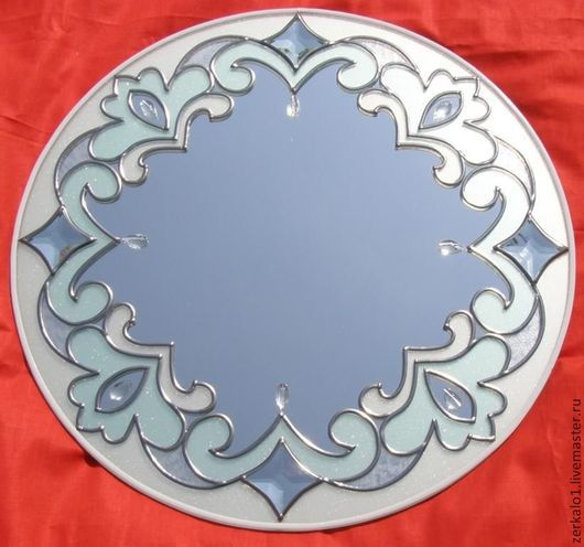 """Зеркала ручной работы. Ярмарка Мастеров - ручная работа. Купить Зеркало с декором """"Нежность"""". Handmade. Витраж, для дома и интерьера, новоселье"""