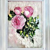 Картины и панно ручной работы. Ярмарка Мастеров - ручная работа Чайные розы. Handmade.