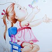 Декор ручной работы. Ярмарка Мастеров - ручная работа Роспись стен - Непоседы. Handmade.