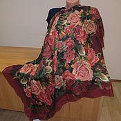 Ткани ручной работы. Ярмарка Мастеров - ручная работа 10183 лоскут Павловопосадского платка 115 из разряженной ткани. Handmade.