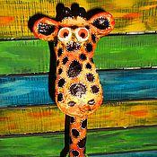 """Куклы и игрушки ручной работы. Ярмарка Мастеров - ручная работа Фигурка """"Жирафа"""".. Handmade."""