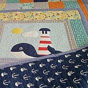 Для дома и интерьера ручной работы. Ярмарка Мастеров - ручная работа Лоскутное покрывало Море...море.. лоскутное одеяло. Handmade.