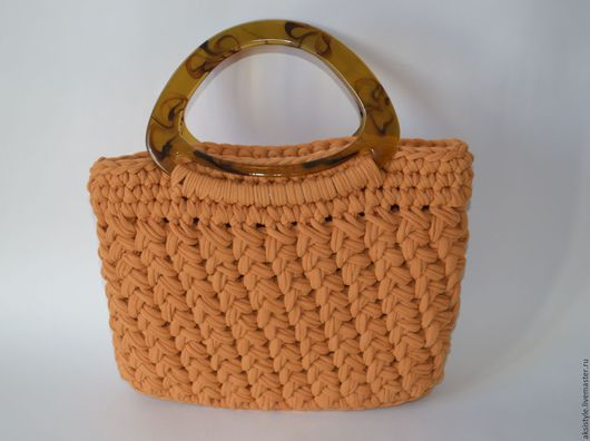 Женские сумки ручной работы. Ярмарка Мастеров - ручная работа. Купить Сумка вязаная. Handmade. Рыжий, летняя сумка
