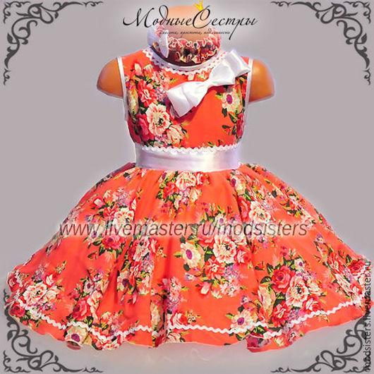 """Одежда для девочек, ручной работы. Ярмарка Мастеров - ручная работа. Купить Детское платье """"Цветы"""" Арт.300. Handmade. Цветочный"""