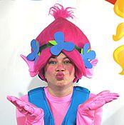 Одежда handmade. Livemaster - original item Wig Hat Pink. Handmade.