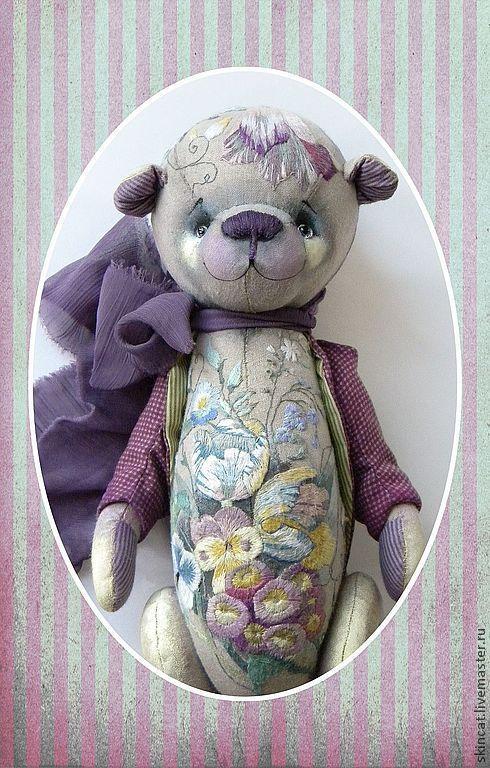 Мишки Тедди ручной работы. Ярмарка Мастеров - ручная работа. Купить Мишка №4. Handmade. Сиреневый, мишка ручной работы