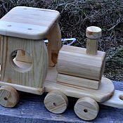 Куклы и игрушки ручной работы. Ярмарка Мастеров - ручная работа паровоз. Handmade.